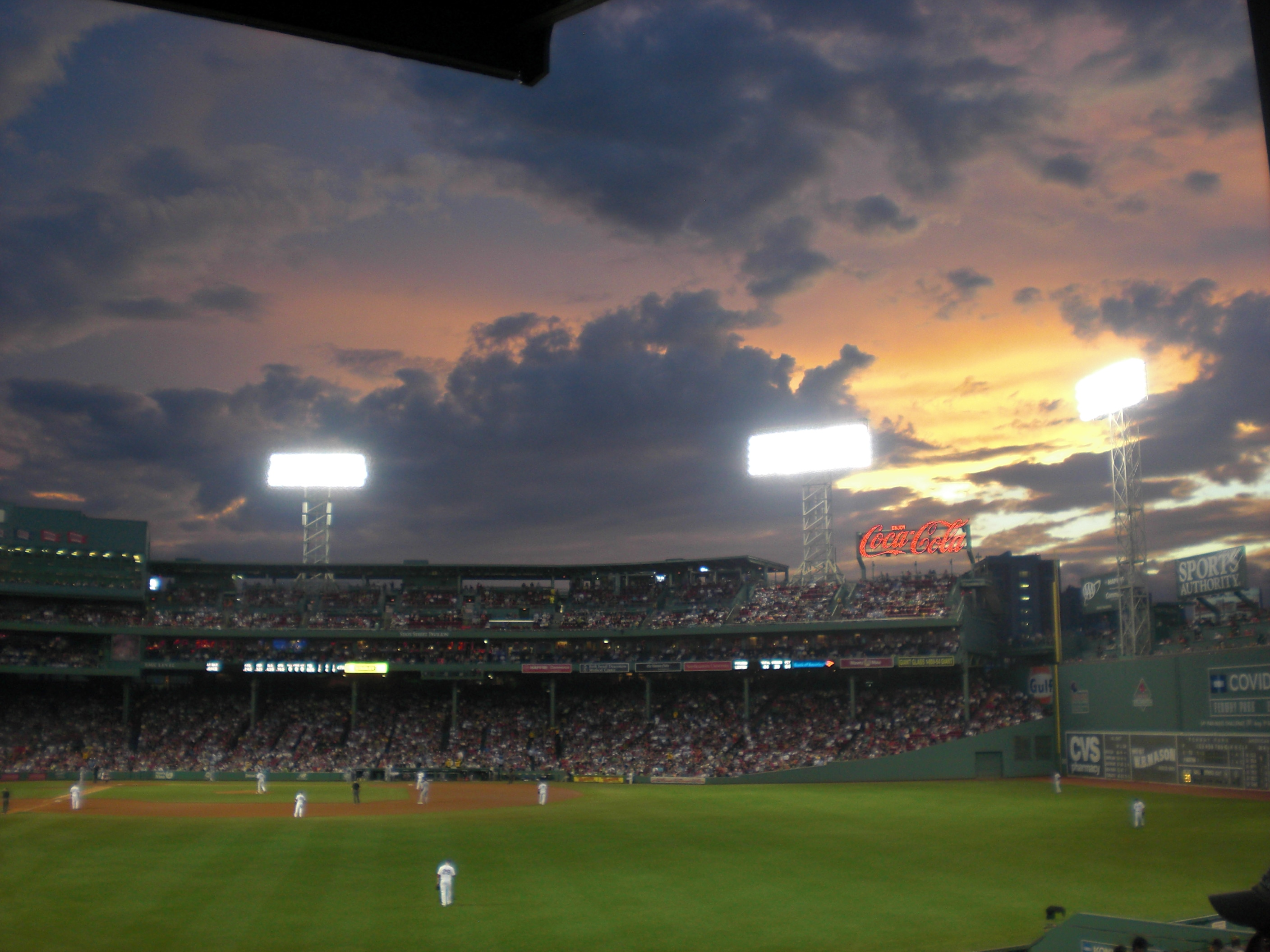 Evening before convention at Fenway Park.